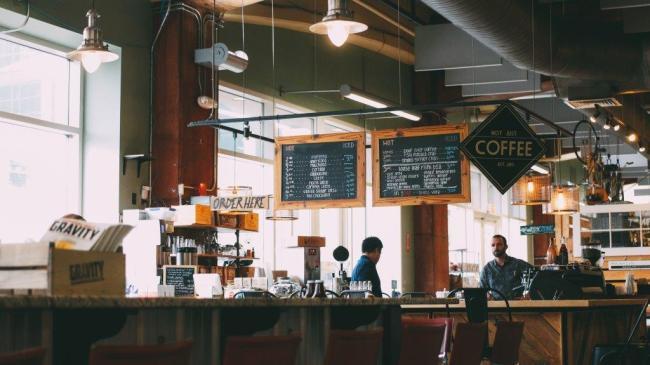 Kaffee in einem Cafe