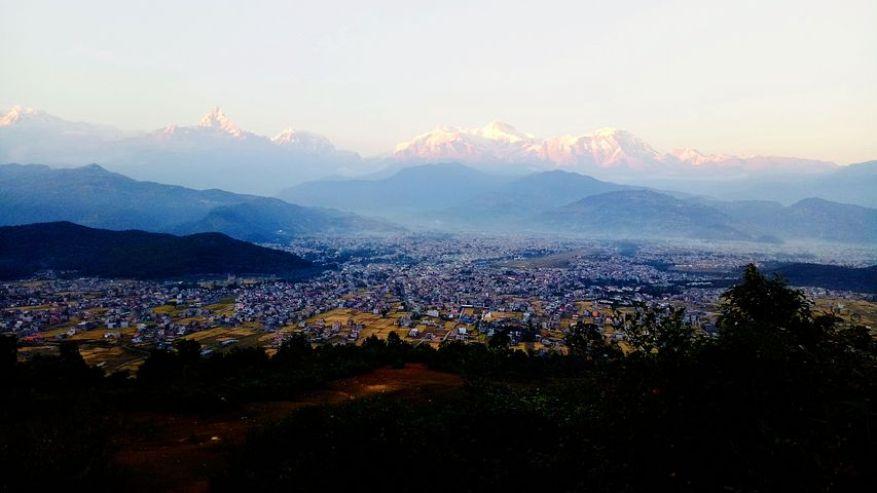 ポカラからのヒマラヤの展望