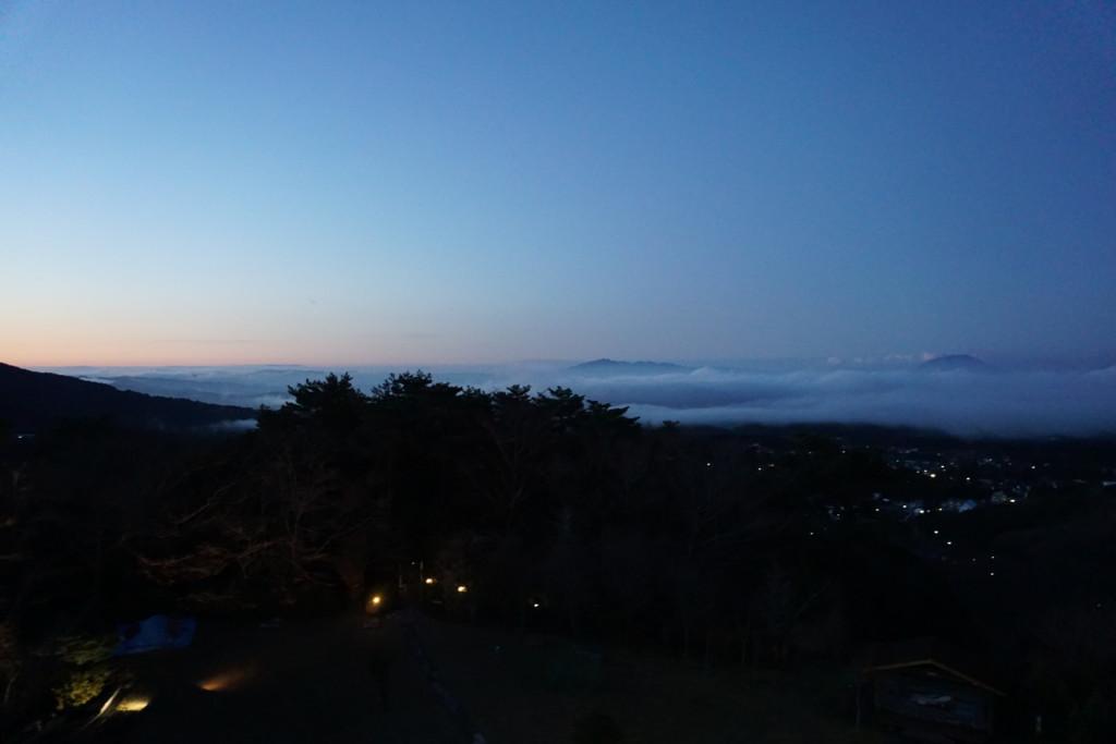 部屋から桜島が見えます