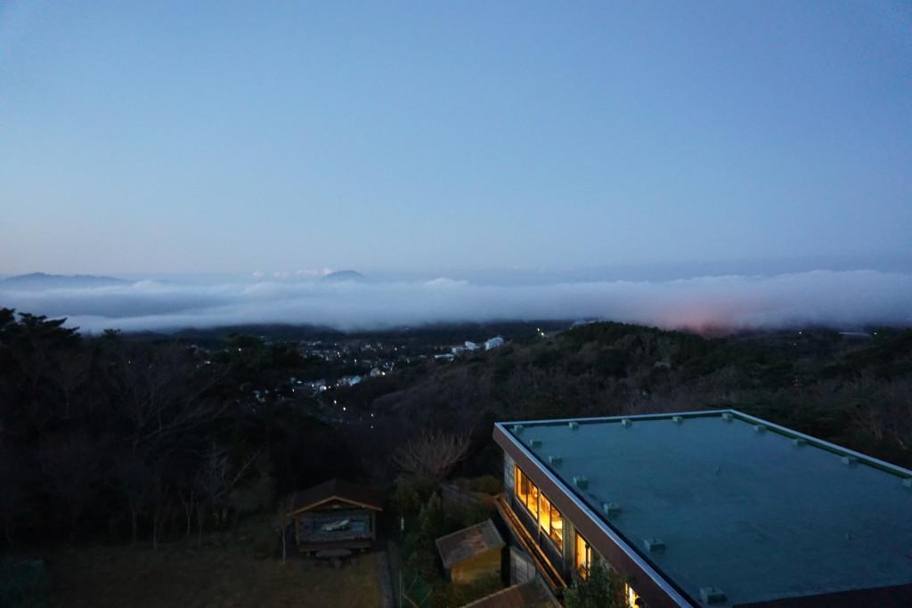 旅行人山荘の部屋からの景色