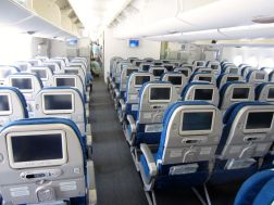 Korean Air A380 economy class cabin