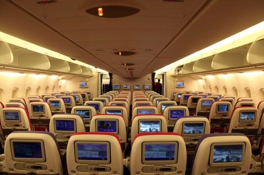 Thai A380 economy upper deck cabin