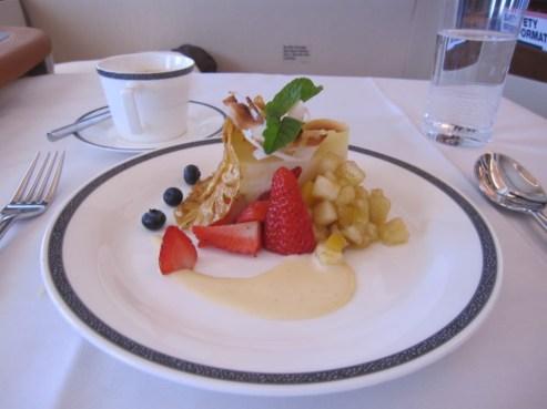 Dessert in first class