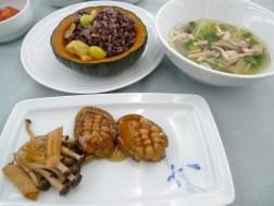 A sample of food in KE's A380 Suites
