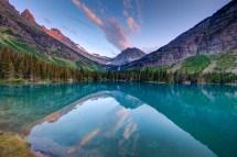 Mokowanis Lake In Glacier National Park Montana
