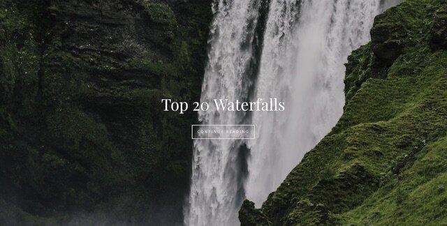 top 20 waterfalls