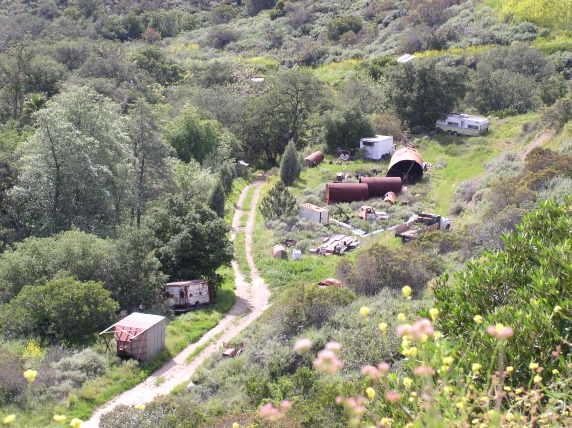 Makeshift Camp at Black Star Canyon