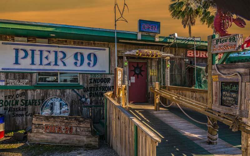 Pier 99 Restaurant in Corpus Christi, Texas