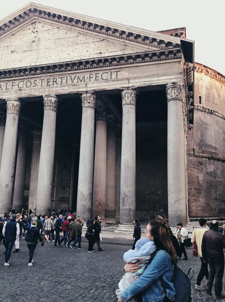 pantheon rome with a toddler
