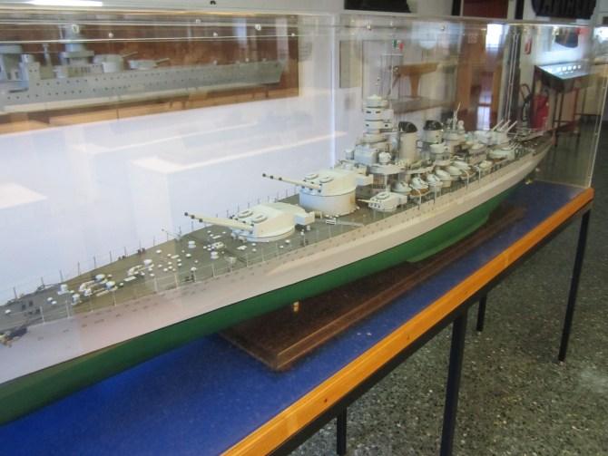 A model battleship