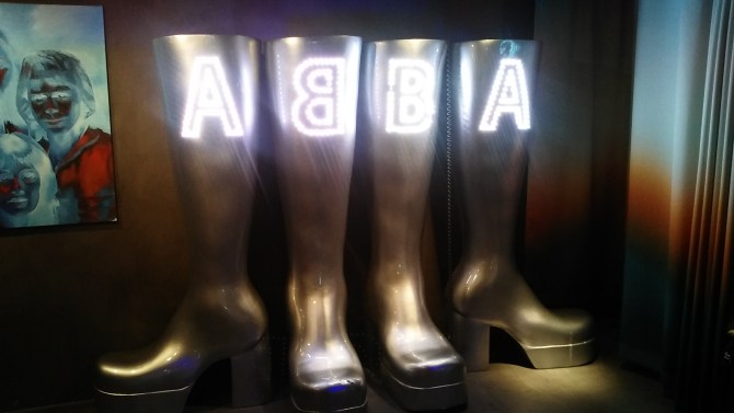 In the cafe at the ABBA museum