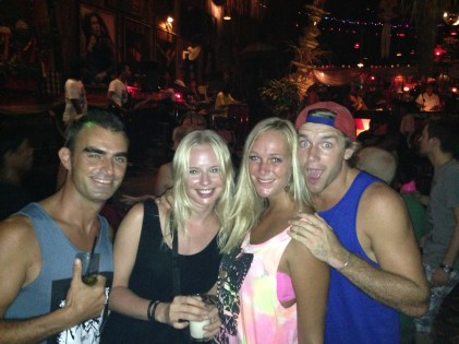 Me, Katja, Lychelle & Andrew @ Reggae Bar (Kuta, Bali)