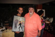 Painter ... & myself and his painting 'The Circus'