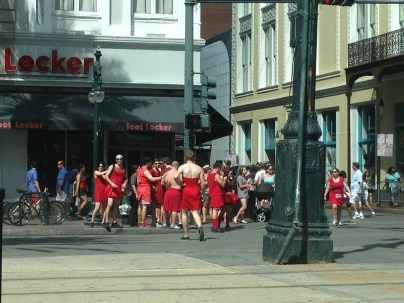 The crazy Red Dress Run