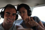 Golnaz & I in a AeroParacas private 2-seater