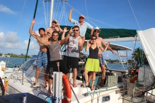 Charlie, Rex, Max, Jessica, Chris & i after some amazing days with Jay in the Keys