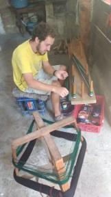 Weaving master at work