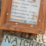 Natchaug Trail Distance Sign