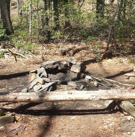 Nipmuck Trail Campsite fire ring