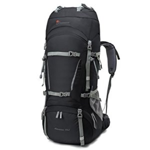 Mountaintop 70L+10L Internal Frame Backpack with Rain Cover