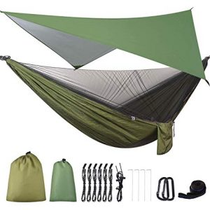 FIRINER Camping Hammock with Mosquito Net & Rainfly Tent review
