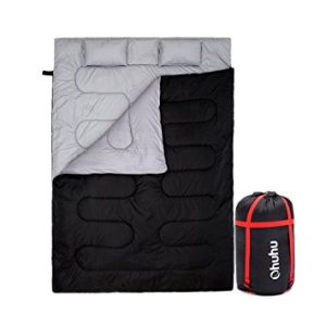 Ohuhu Double Sleeping Bag with 2 Pillows