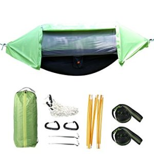 3 in 1 Rain Fly Camping Hammock with Mosquito Net