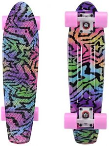 Playshion Complete 22 Inch Mini Cruiser Skateboard
