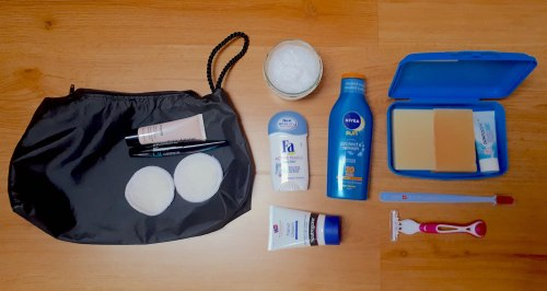 Hygiene Products in My Backpack