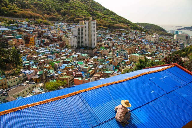 The colourful village in Busan South Korea