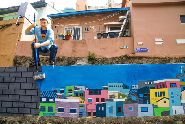 A Guide to artworks in Gamcheon village Busan