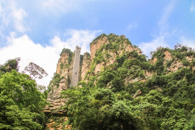 Bailong Elevator in Zhangjiajie National Forest Park