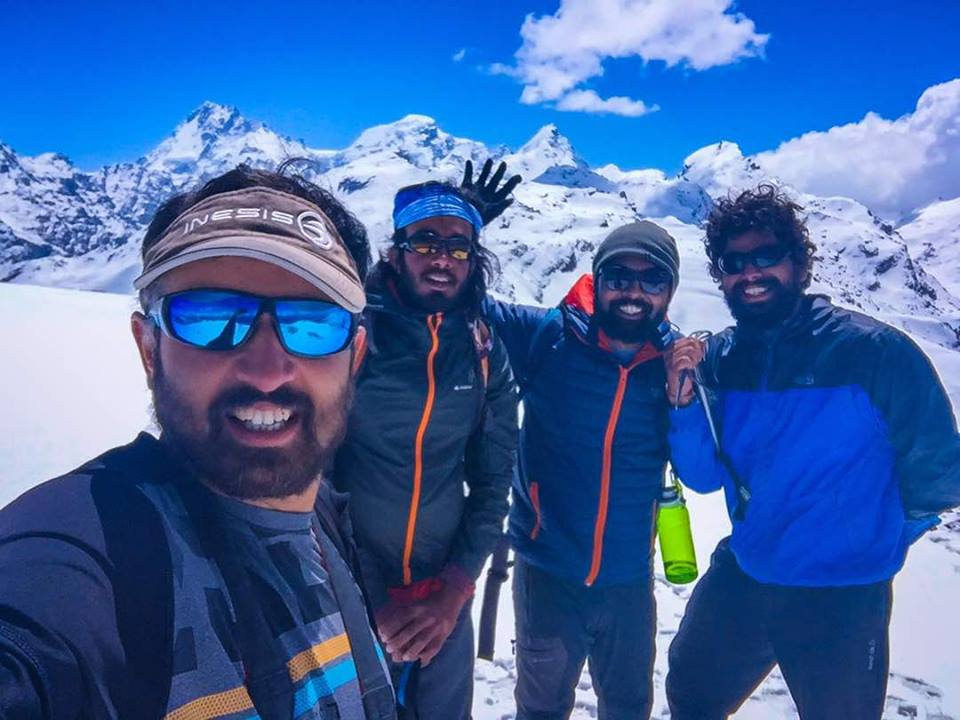 Mandatory selfie at the Prini Peak. From left to right – Pranav, Huzeifa, myself and Ashray.