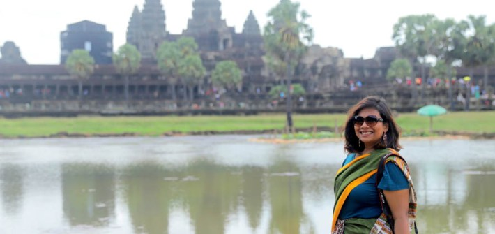 Exploring Angkor Wat In A Saree