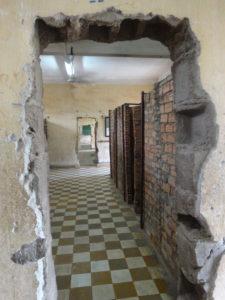 Girls Who Travel | a hallway at Tuol Sleng