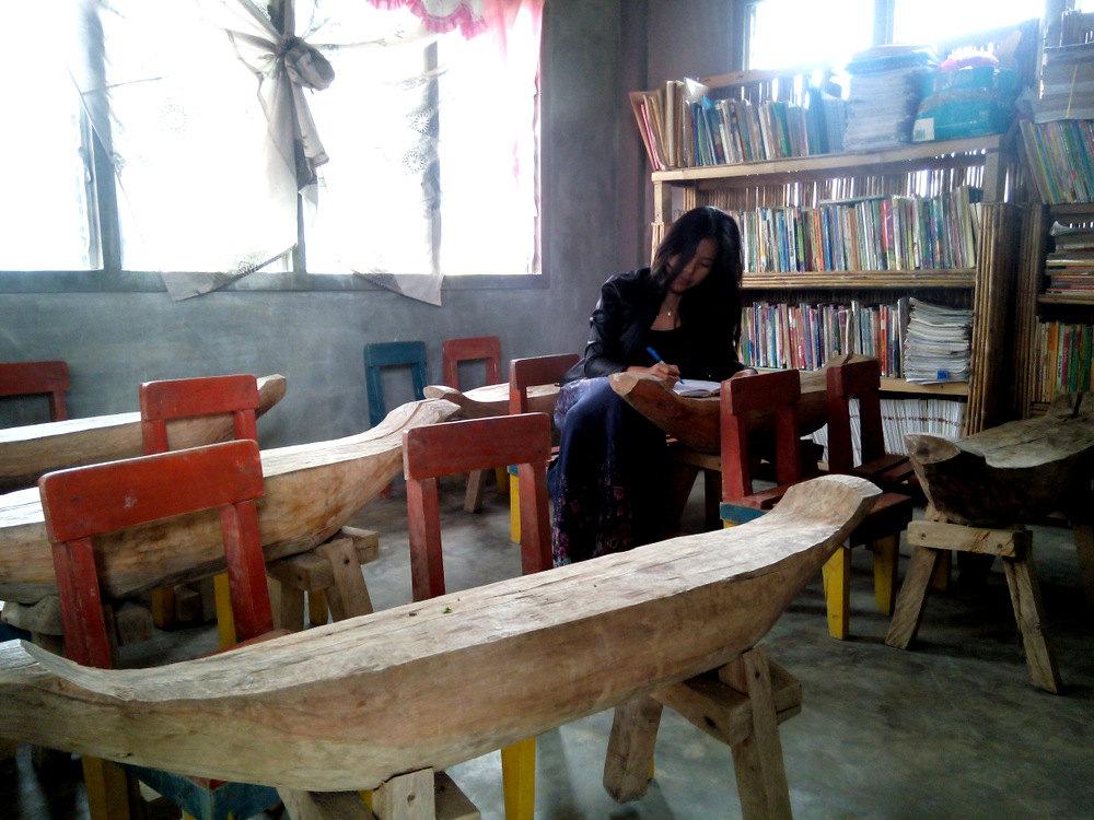 A classroom in a mountain barangay in Lake Sebu