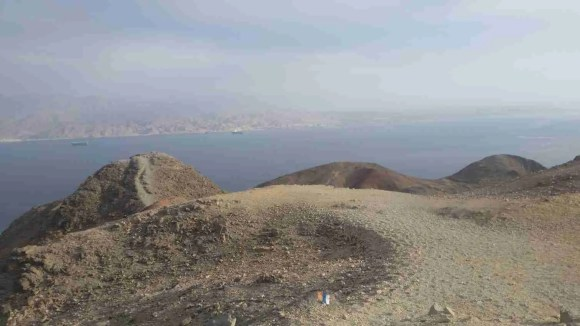 From Mount Zefahot (with the National Trail mark)