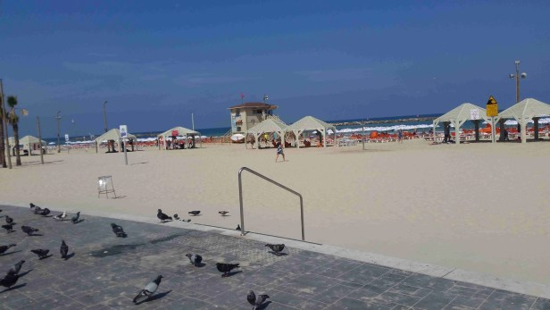 One of the beaches along the promenade