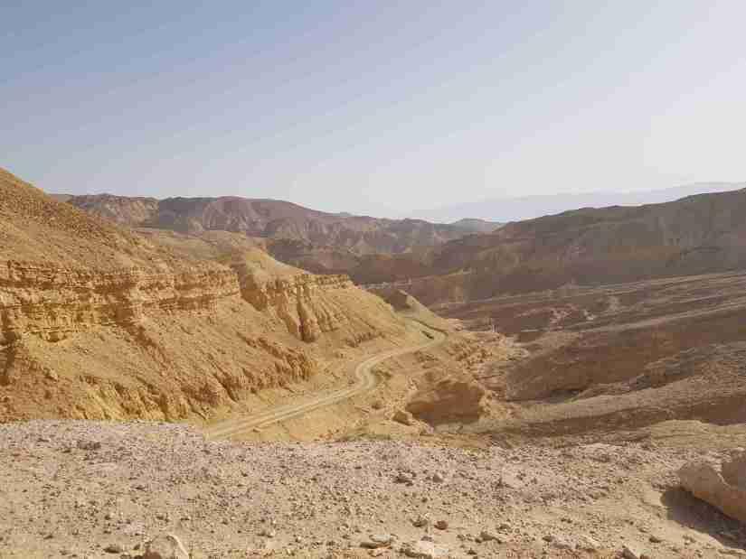 The view at the beginning of En Netafim Trail