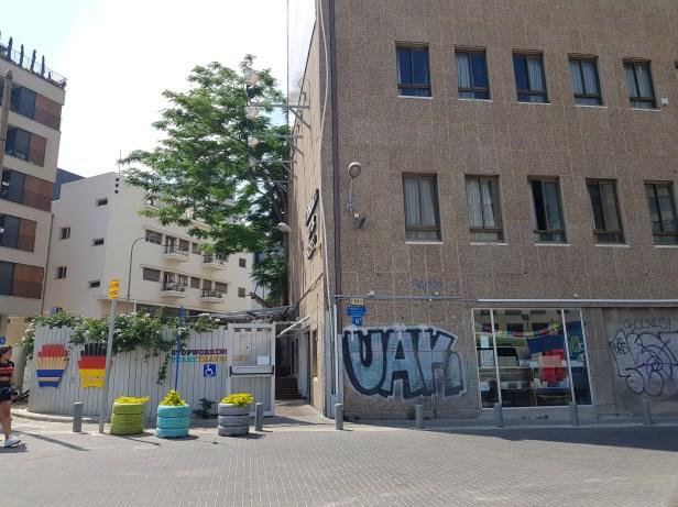 Entrance to Abraham Hostel Tel Aviv