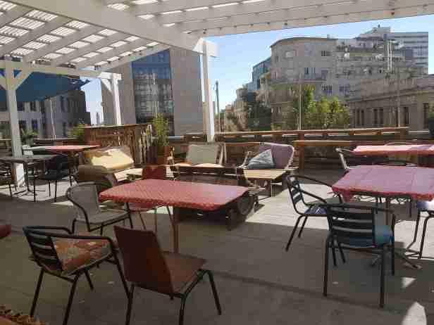 Roof terrace Jerusalem Hostel