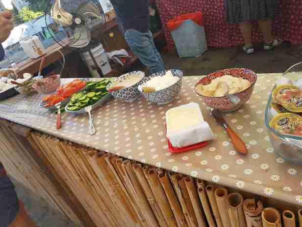 Breakfast at Jerusalem Hostel