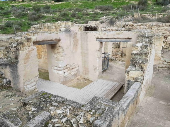 The Villa from above at Beit Guvrin National Park