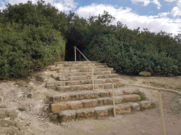 The staircase to the Apollophanaes Cave, Beit Guvrin National Park