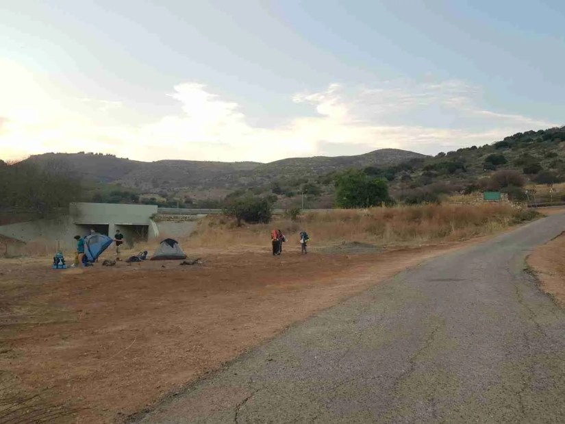 Gesher Alma campground on the Israel National Trail