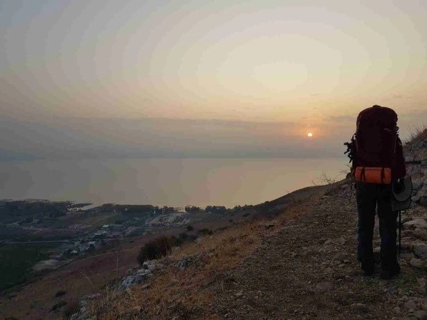 Sunrise over the Sea of Galilee from Mount Arbel