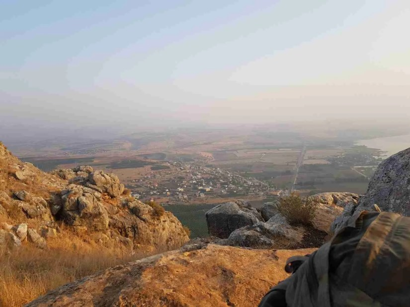 The view from Mount Arbel