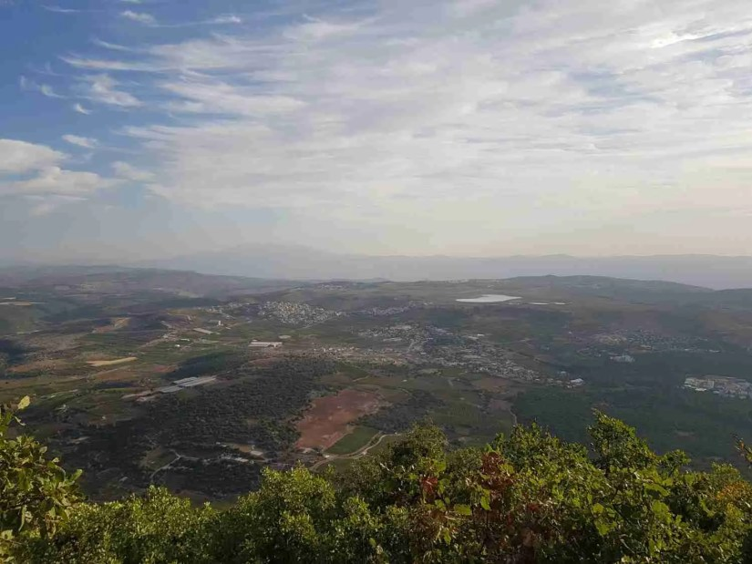 The view from the Peak Trail on Mount Meron