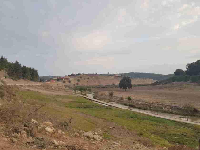 The Zippori Stream and Ras Ali in the distance