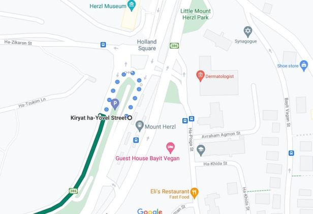 How to reach the bus station to Ein Karem